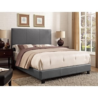 Picket House Jana Faux Leather Magnetite Queen Bed