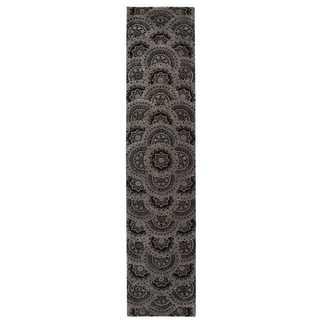 Nourison 2000 Black Grey Area Rug (2'6 x 12')