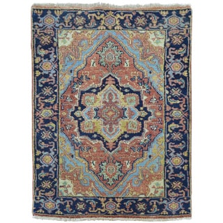 Pure Wool Hand-knotted Antiqued Heriz Oriental Rug (2' x 3')