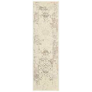 Michael Amini Glistening Nights Ivory Area Rug by Nourison (2'2 x 7'6)