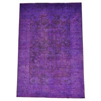 Pure Wool Overdyed Oushak Hand-knotted Oriental Rug (10' x 14'2)