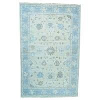 Ivory Oushak Pure Wool Handmade Oversize Oriental Rug (11'7 x 18'1)