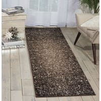 Michael Amini Glistening Nights Grey Area Rug by Nourison (2'2 x 7'6) - 2'2 x 7'6