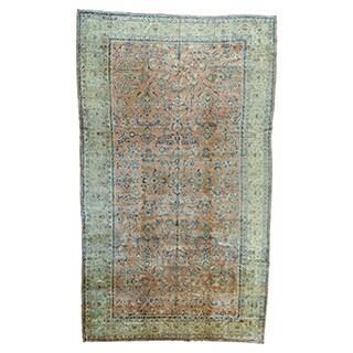 Oversize Full Pile Antique Persian Sarouk Mint Cond Rug (11'1 x 18'9)