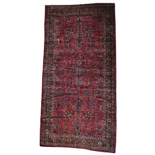 Antique Persian Sarouk Mint Cond Gallery Size Rug (10'6 x 21'1)