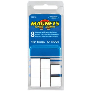 """Master Magnetics 07018 8-count 1/2"""" X 3/16"""" High Energy Flexible Magnets"""
