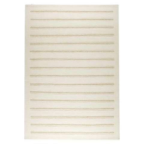 Handmade M.A.Trading Indo Chicago White Rug (3' x 5'4) (India)