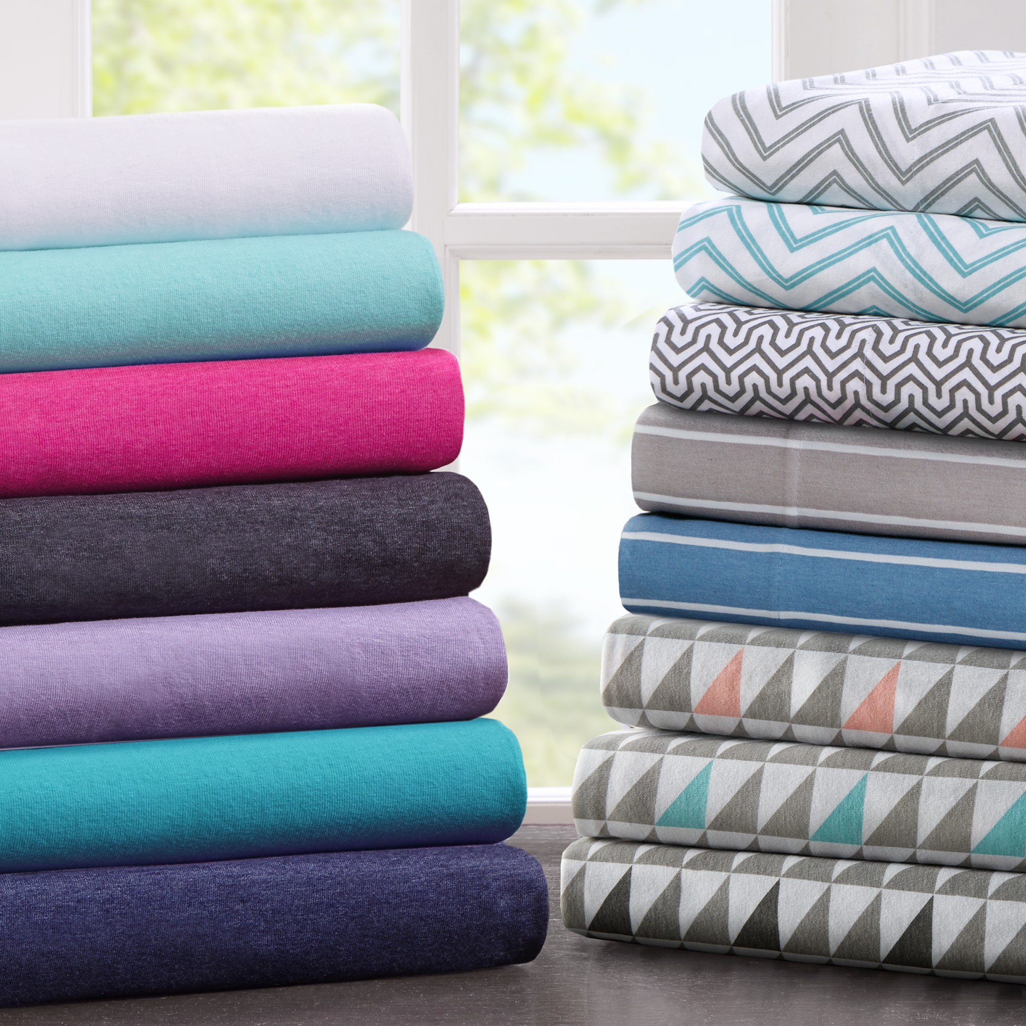 Intelligent Design Cotton Blend Jersey Knit Sheet Set (Qu...