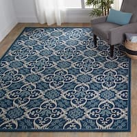 Nourison Caribbean Indoor/Outdoor Navy Rug (2'6 x 4')