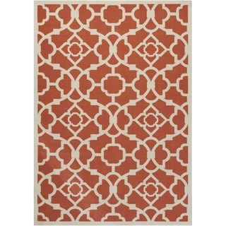Waverly Sun N' Shade Lovely Lattice Sienna Indoor/ Outdoor Rug by Nourison (7'9 x 10'10)