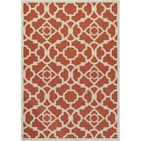 Waverly Sun N' Shade Lovely Lattice Sienna Indoor/ Outdoor Rug by Nourison - 7'9 x 10'10