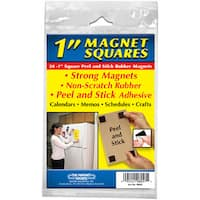 "Master Magnetics 08057 24-count 1"" Square Peel & Stick Rubber Magnets"