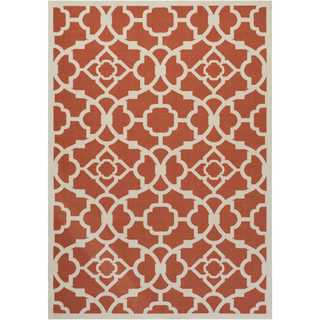 Waverly Sun N' Shade Lovely Lattice Sienna Indoor/ Outdoor Rug by Nourison (10' x 13')