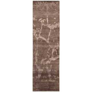 Nourison Silk Shadows Brown Area Rug (2'3 x 8')