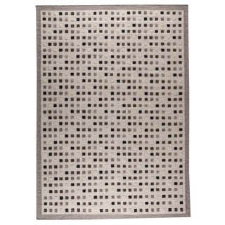 M.A.Trading Hand-woven Indo Khema1 Grey Rug (4'6 x 6'6)