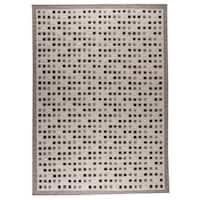 M.A.Trading Hand-woven Indo Khema1 Grey Rug (4'6 x 6'6)