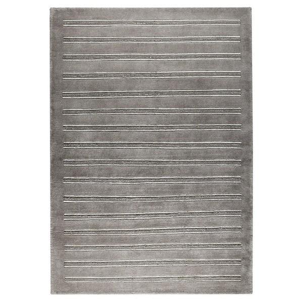 Handmade M.A.Trading Indo Chicago Grey Rug (India)