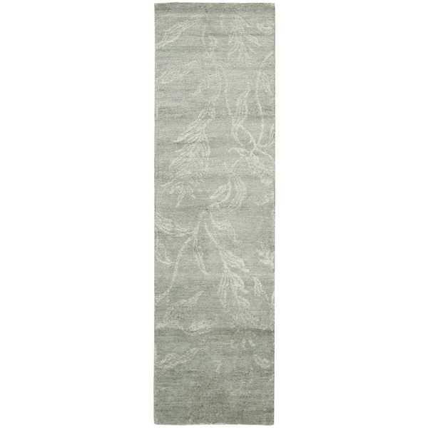 Nourison Silk Shadows Light Green Area Rug (2'3 x 8') - 2'3 x 8'