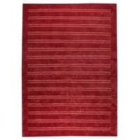 Handmade M.A.Trading Indo Chicago Red Rug (4'6 x 6'6) (India)
