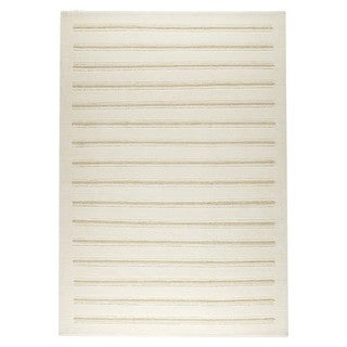 M.A.Trading Hand-knotted Indo Chicago White Rug (4'6 x 6'6)