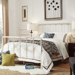 West Antique Industrial Lines Iron Metal Bed by iNSPIRE Q Classic