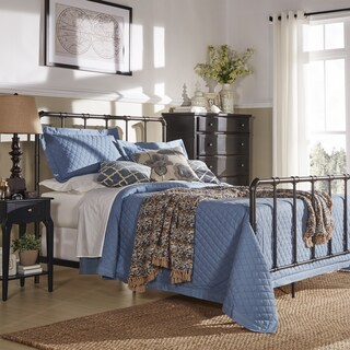 West Antique Industrial Lines Iron Metal Bed by iNSPIRE Q Classic (4 options available)