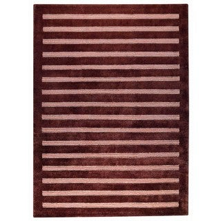 M.A.Trading Hand-knotted Indo Chicago Brown Rug (3' x 5'4)