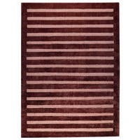 Handmade M.A.Trading Indo Chicago Brown Rug (India)