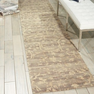 Nourison Silk Elements Taupe Area Rug (2'5 x 10')