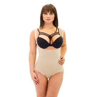Women's Beige Wear Your Own Bra Bodysuit Shaper