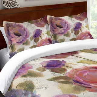 Laural Home Blue and Purple Florals Standard Pillow Sham