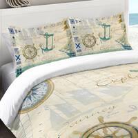 Laural Home Nautical Journey 300 TC Cotton Standard Pillow Sham