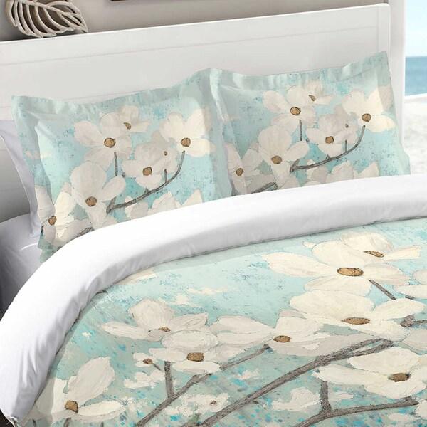 Laural Home Flowering Dogwood Blossoms Standard Pillow Sham