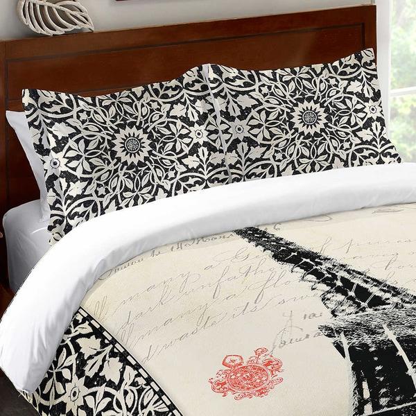Laural Home Eiffel Tower Pattern Standard Pillow Sham