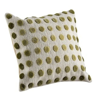 M.A.Trading Hand-woven Indo Pasquale Green Pillow (16-inch x 16-inch)
