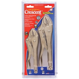 Crescent CLP2SET 2 Piece Locking Pliers With Wire Cutter Set