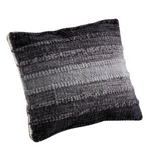 M.A.Trading Hand-woven Indo Ignazio Grey Pillow (16-inch x 16-inch)