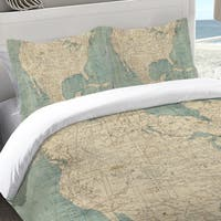 Laural Home Map of North America Standard Pillow Sham