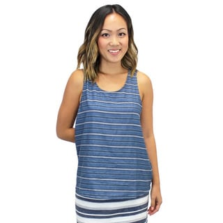 Relished Striped Criss-Cross Back Tank