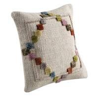 M.A.Trading Hand-woven Indo Benita Soft/ Multi Pillow (16-inch x 16-inch)