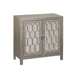 Burnished Silver Bevel Overlay Door Chest