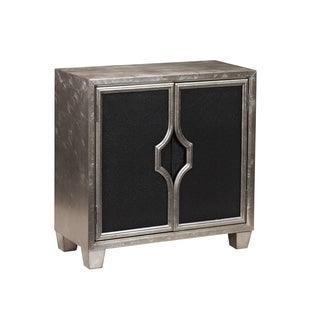 Silver and Black Finish Chest