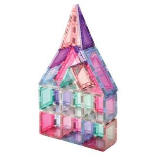 MagWorld Toys Pastel 3D Magnetic Building Tiles - 60 Piece