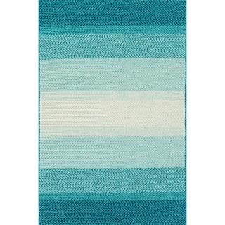 Indoor/ Outdoor Braided Blue Rug (7'9 x 9'9)