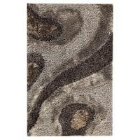 Handmade M.A.Trading Indo Dunes Grey Rug (7'10 x 9'10) (India)