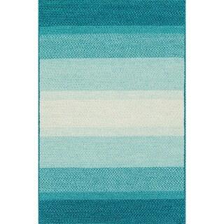 Indoor/ Outdoor Braided Blue Rug (9'3 X 13)