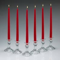 Soft Wine Red Unscented Taper Candles 12 Inch Tall 3/4 Inch Thick Set of 12 Burn 10 Hours
