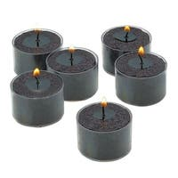 Unscented Black 8-hour Set of 36 Tealight Candles with Clear Holders