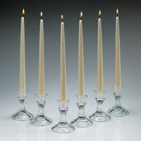 Ivory Taper Candles 12 Inch Tall Burn 8 Hours Set of 12