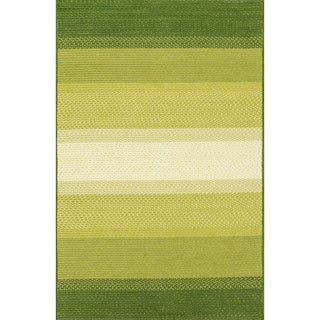 Indoor/ Outdoor Braided Green Rug (7'9 x 9'9)